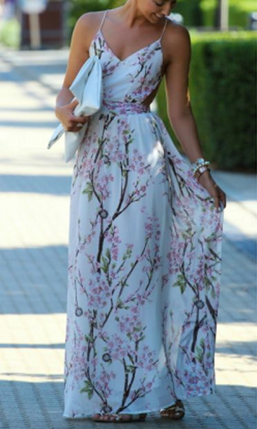 Cherry Blossom Maxi Dress Maxi Dresses Floral And Printing