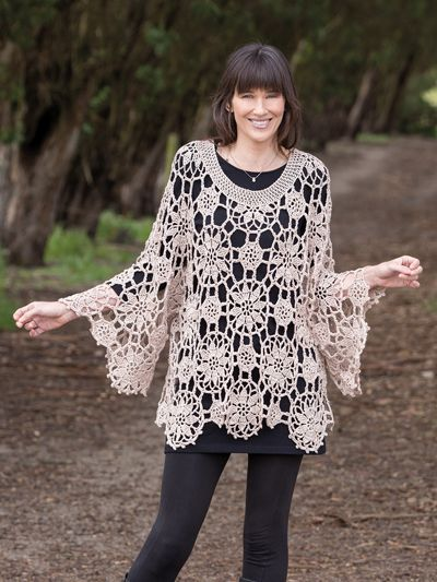 Annies Signature Design Abundant Motifs Tunic Crochet Pattern