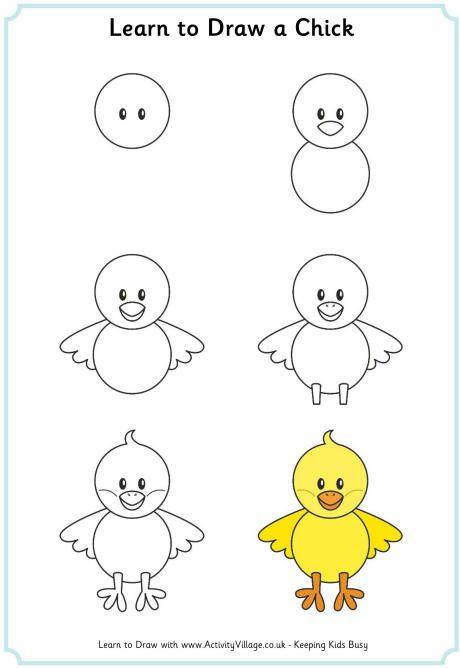 Civciv Cizim Modeli Cizim Doodle Desenleri