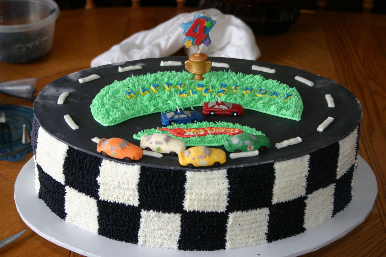 Hotwheels For Boys 4Th Birthday Cake, Racing cake