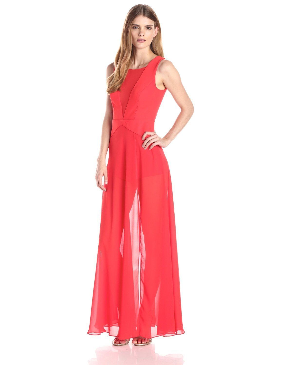 Halee Deep V Neck Gown by BCBGMAXAZRIA | Gowns and Detail