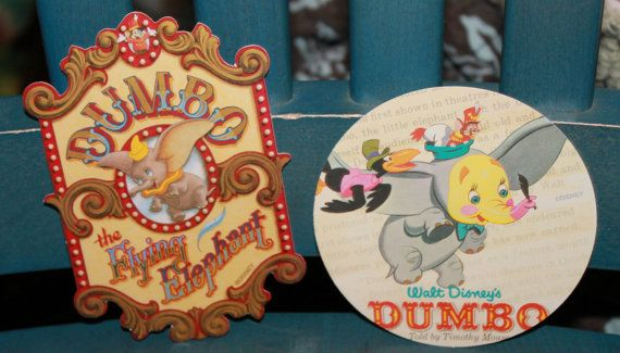 Disney Dumbo Vintage Style Stickers 2 Great For Disney Or Circus Baby Shower Birthday Or For Scrapbooking Collec Baby Shower Birthday