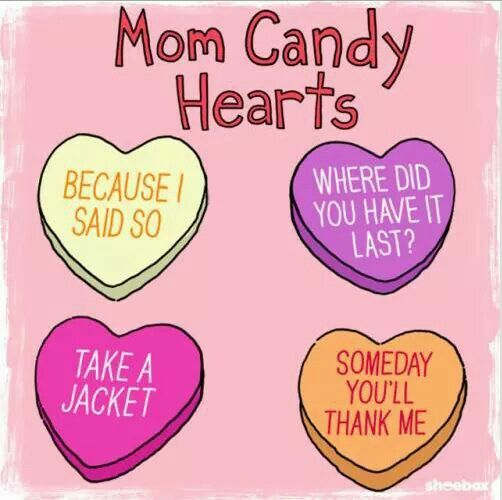 Mom candy hearts | Funny Stuff | Pinterest