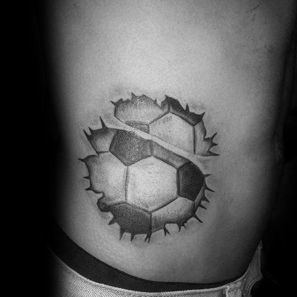 90 soccer tattoos for men sporting ink design ideas torn skin rh pinterest com soccer player tattoo ideas small soccer tattoo ideas