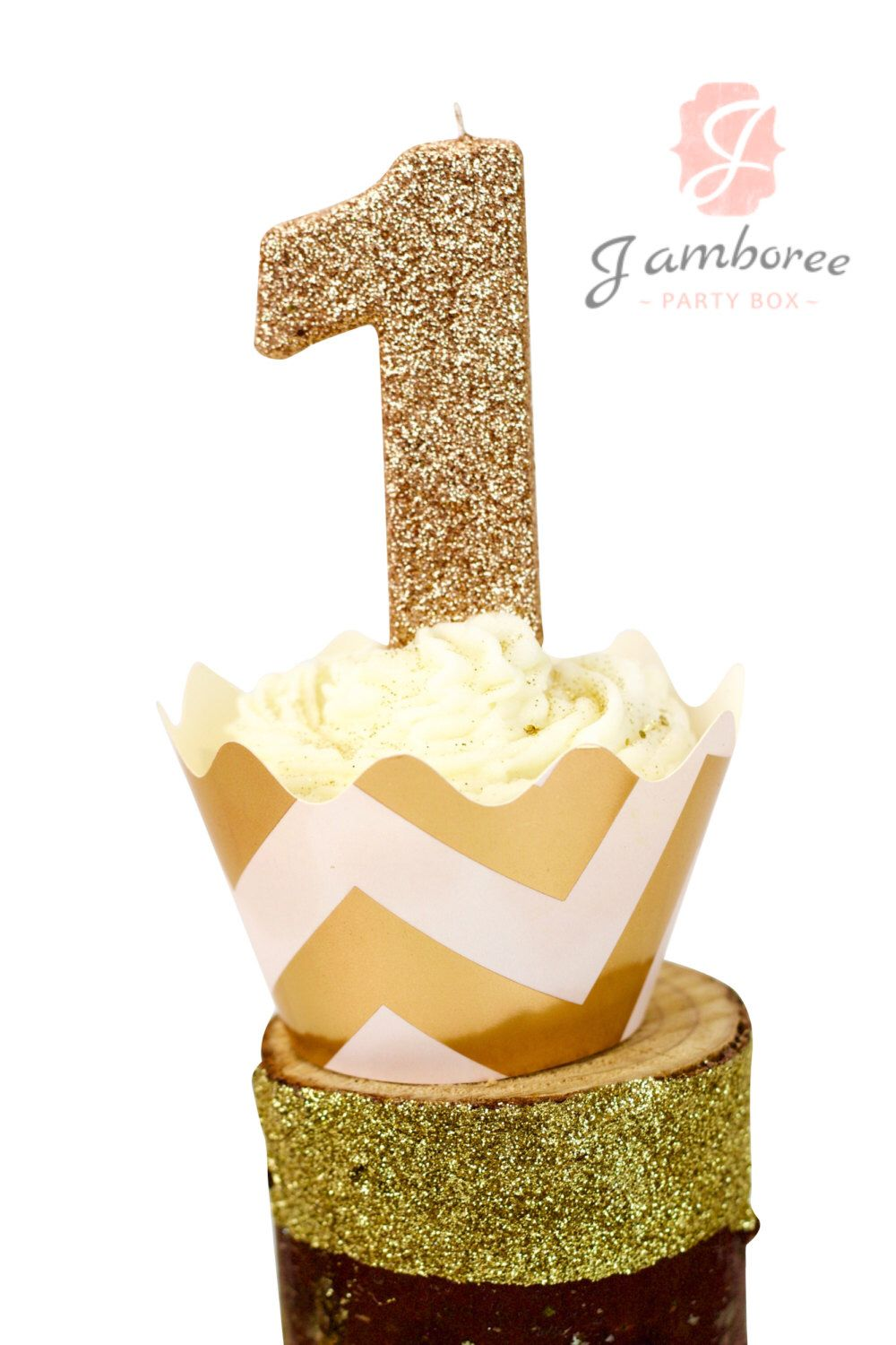 3 Or 5 Glitter Rose Gold Number 1 Birthday Candle Giant First