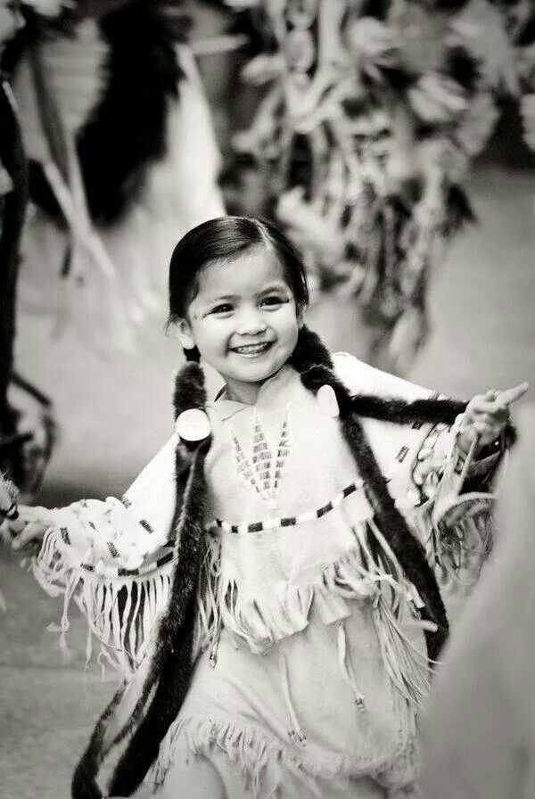 Full of life! May this Native American child always be this blissfully happy!: