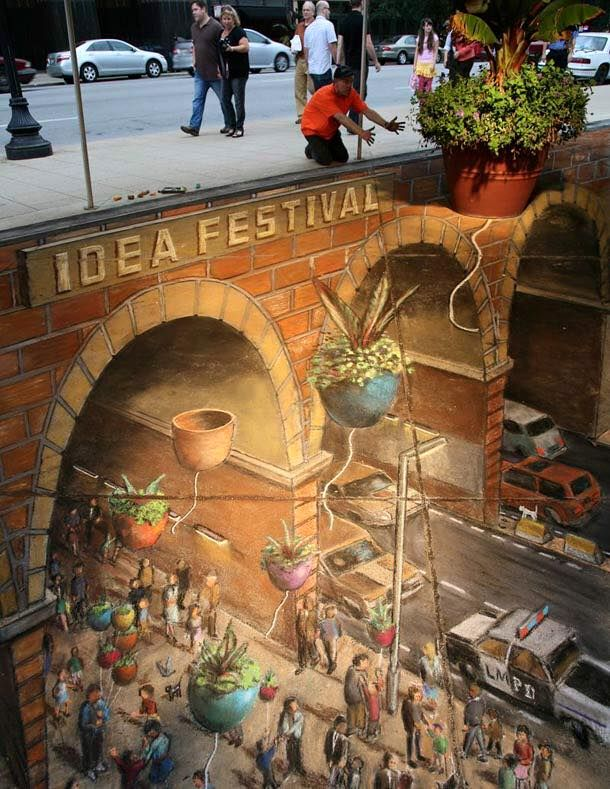 BeautifulsidewalkDchartworks Graffiti Artwork Pinterest - 17 amazing works of 3d street art