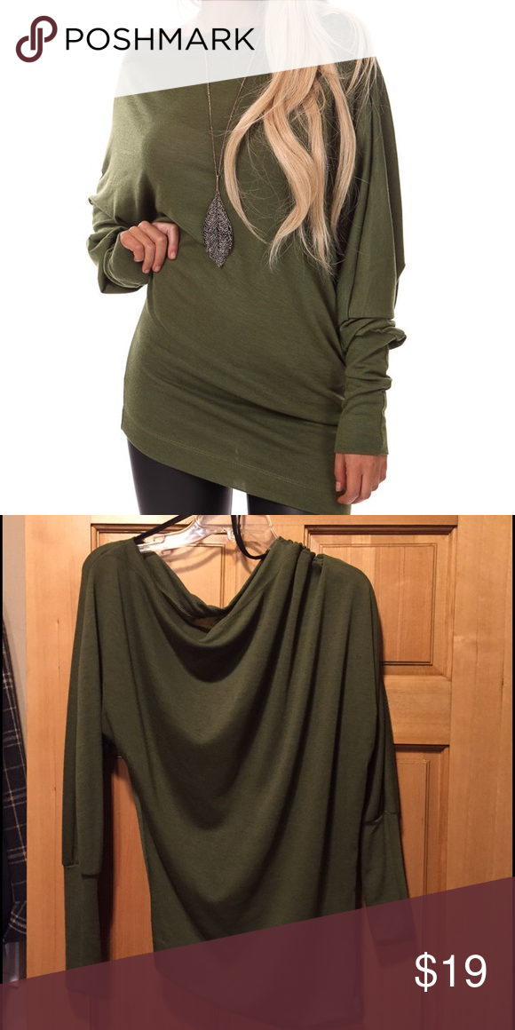 Off Shoulder Dolman Knit Top Super cute top, only worn twice, just a little small for me.  Purchased from LimeLush Boutique.  Medium is equivalent to size 4-6, 34-36 inch bust, 26-28 waist, 35-37 hips. LimeLush Tops Tunics