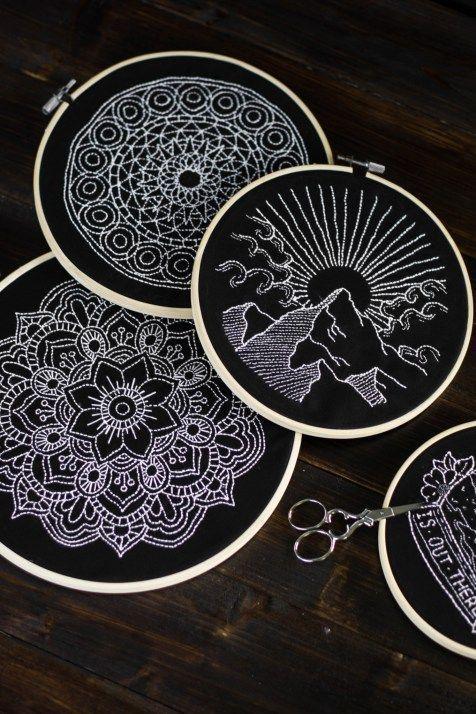 Black and White – Sticken, Sticken, Sticken und wie ihr eure Motive einfach ü #embroiderypatternsbeginner