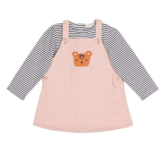 3d8c230d2 BuyJohn Lewis Baby Leopard Pinafore and Striped Top