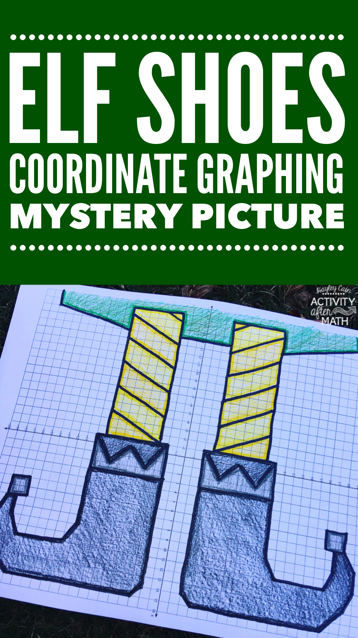 Christmas Math Elf Shoes Coordinate Graphing Ordered Pairs