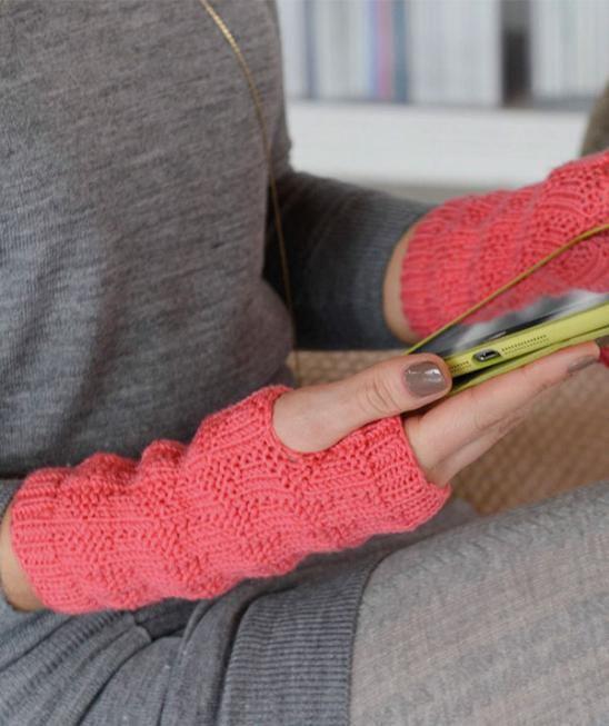 Fingerless gloves in textured pattern, R0266 Free Pattern | knit ...