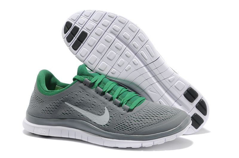 Nike Free 3.0 V5 Wolf Grey White Poison Green Mens Running Shoes - Click  Image to