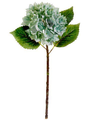 Silk flower hydrangeas in mint green 7 hydrangea silk flowers silk flower hydrangea in blue gray with mint tones 19in tall mightylinksfo Images