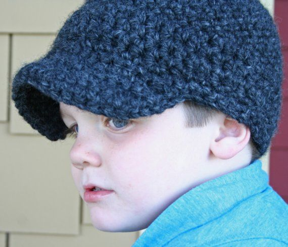 Newsboy Crochet Cap for Boys and Men | **!!! #11~CROCHET | Pinterest ...