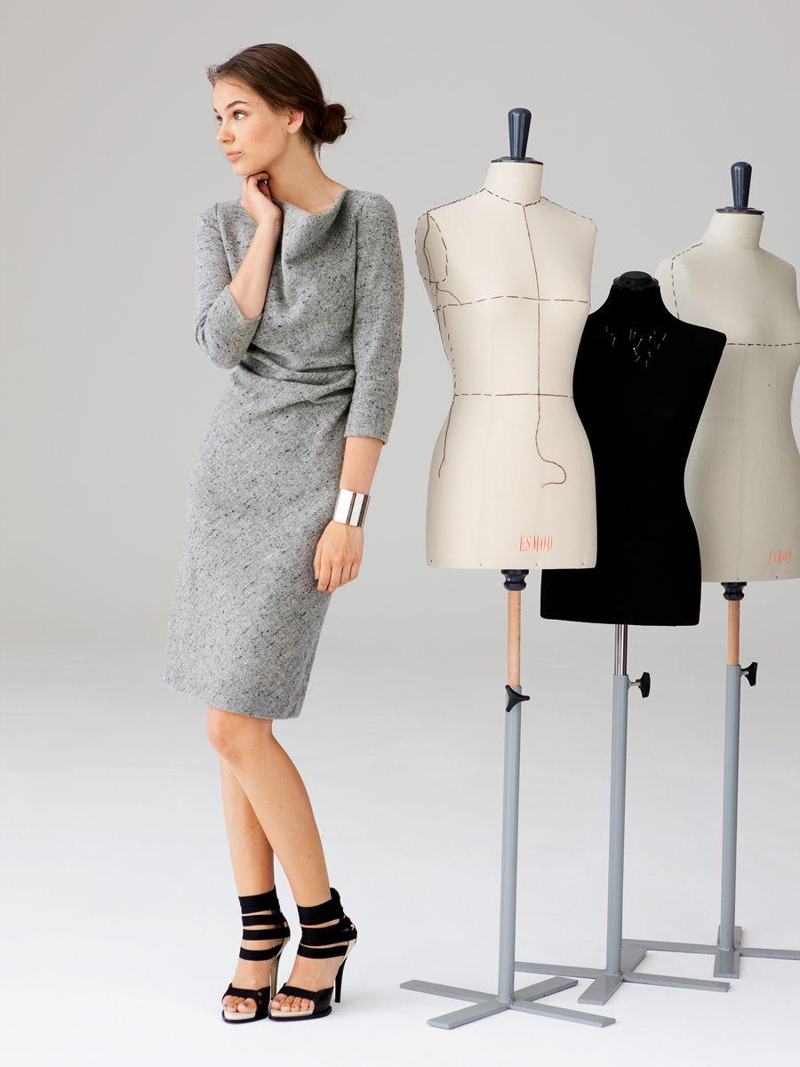 Dress with Waterfall Collar | Pattern | Nähen | Pinterest ...