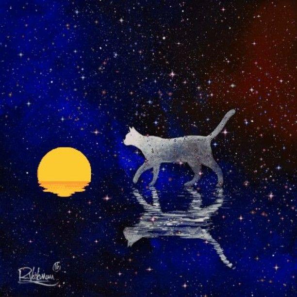 """ INFINITE "" Original painting  My art portal: www.raphaelvavasseur.com Original painting is available in Ebay, fine art print in Etsy  #Cat #Painting #Art #RaphaëlVavasseur #Original #New #Animal #Drawing #Illustration #Catart #Pet #Artwork #Artist #Katze #Gato #Gatto #Kot #猫 #قط #kedi #Picture #Peinture #고양이 #ArtistePeintre #Canvas #AcrylicPainting #Chat #FelineArt #Kat #GraphicDesign"