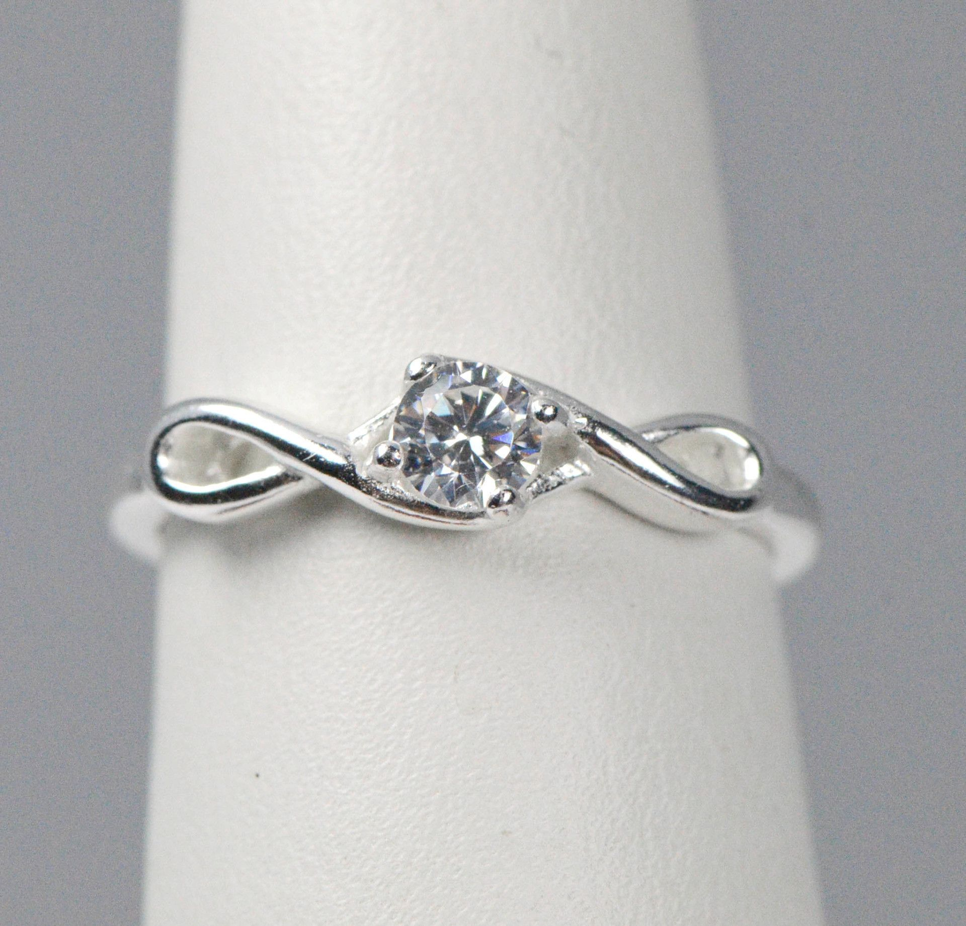 Sterling Silver Infinity CZ Promise Ring | rings ...