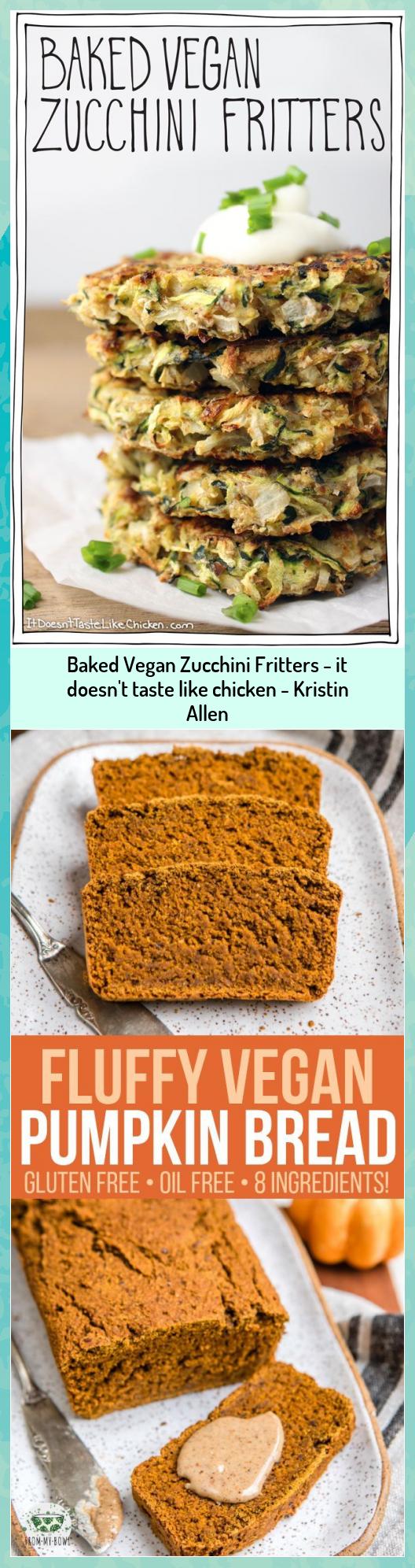 Baked Vegan Zucchini Fritters - it doesn't taste like chicken - Kristin Allen #Allen #Baked #Chicken #doesnt #Fritters #Kristin #Taste #Vegan #Zucchini
