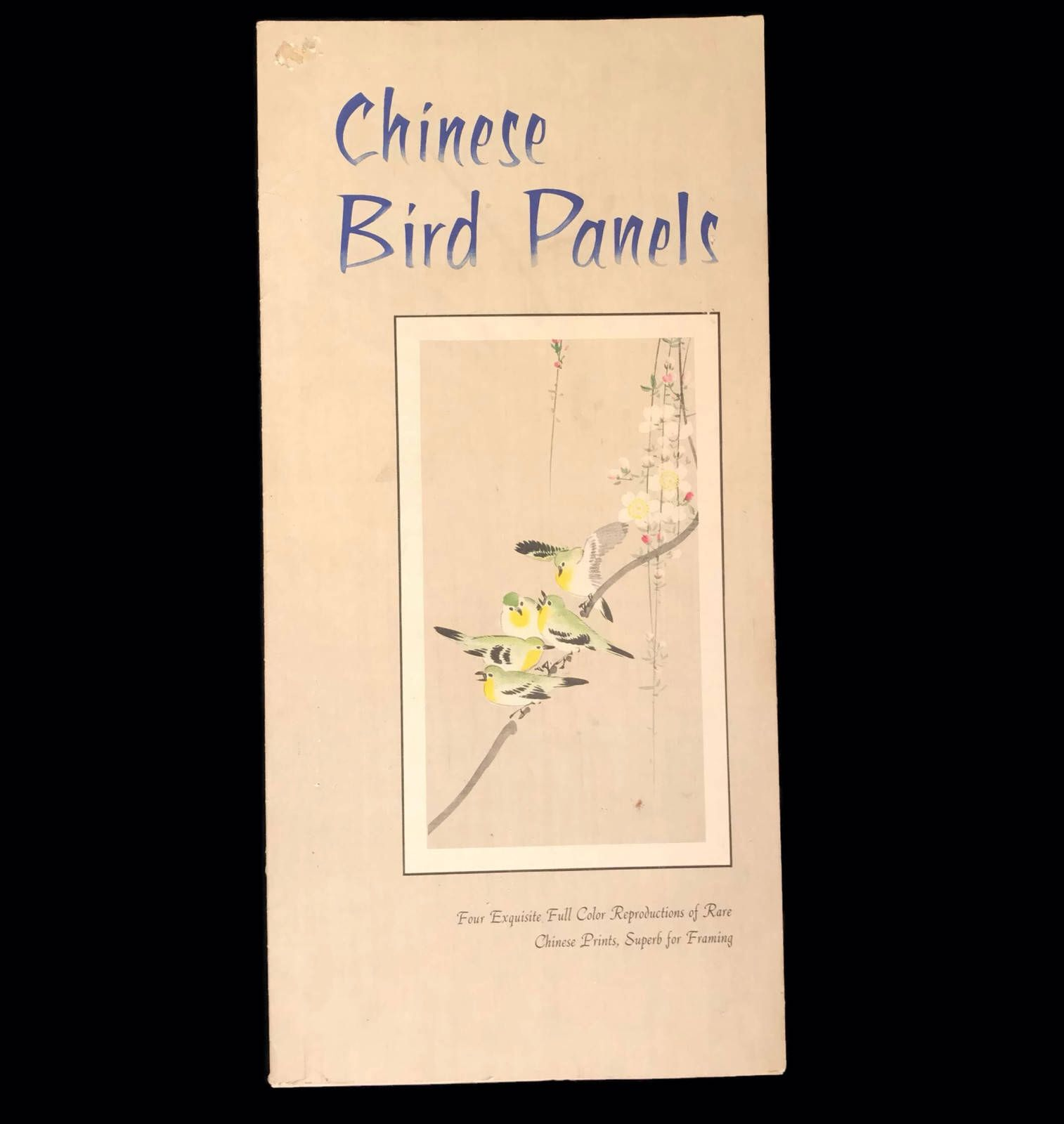 Vintage 1950s Prints Chinese Bird Panels 1958 Large Suitable for ...