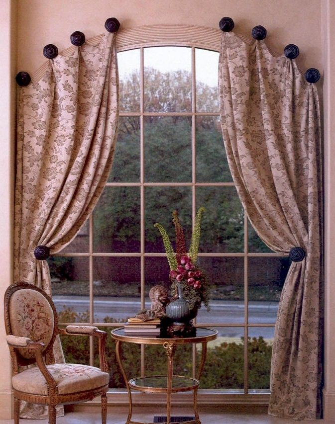 Palladium window decorating ideas rods rings for Arch window decoration