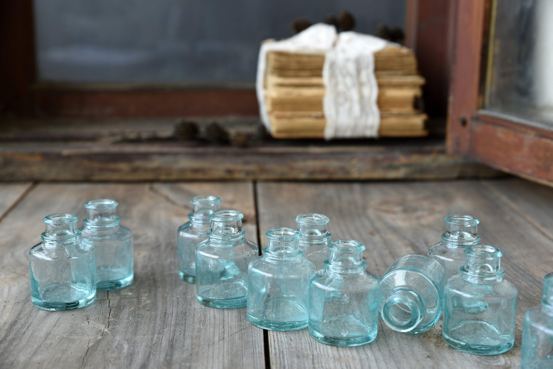 Antique Inkwell Pot Set Ink Well Ink Bottle Inkwell Ink Etsy In 2020 Antique Inkwells Glass Jars Glass Bottles