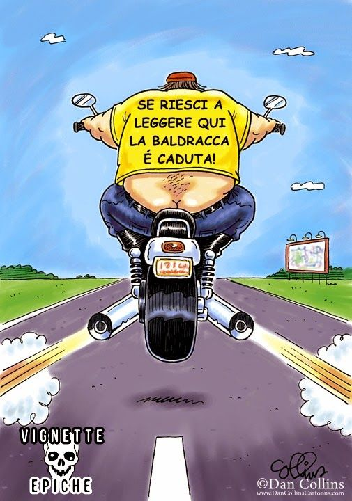 Vignette Epiche Motociclista Frasi Simpatiche Cartoon Jokes