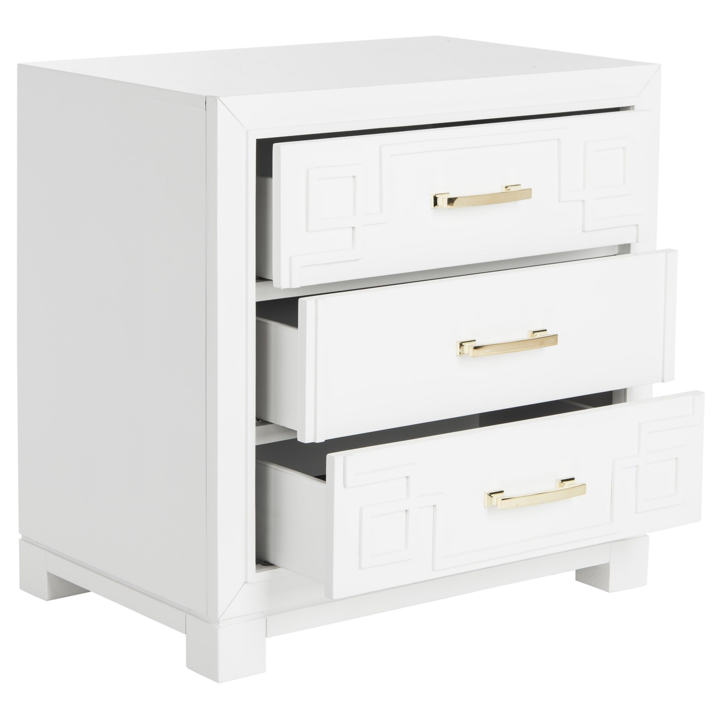 reviews pdx white furniture nightstand mirrored kaplan wayfair drawer