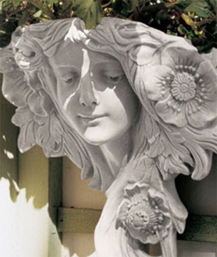 Greenman Art Nouveau Garden Wall Planters Maidens Right Or Left Facing Pair Ebay Design Toscano Statue Wall Sculptures