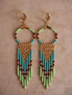 Seed Bead Wing Earring Patterns Google Search