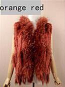 New Real women Genuine Knitted Rabbit Fur Vest With Raccoon Fur Trimming Waistcoat Winter Fur Jacket Hot sale