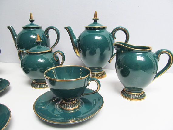 1950s 18 Pieces Coffee Tea Service Set Handmade By Ebyvintage 98 85