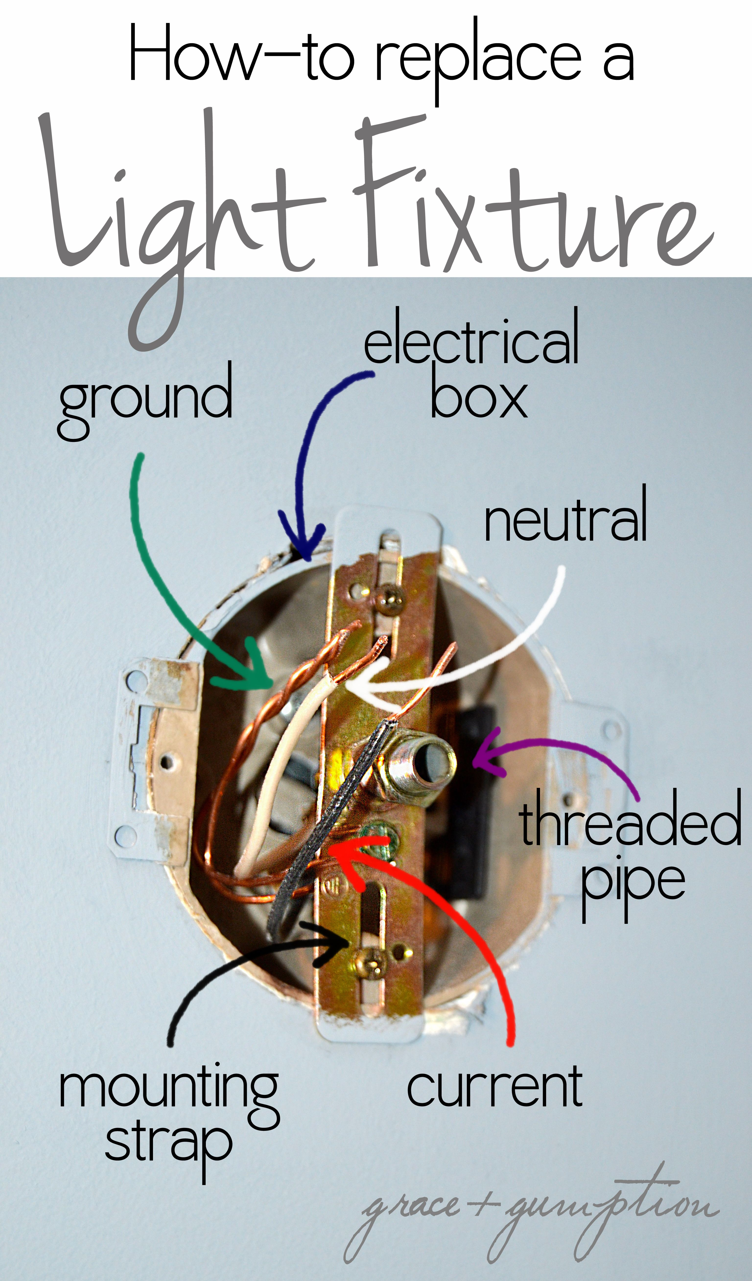 How To Replace A Light Fixture By Grace Gumption