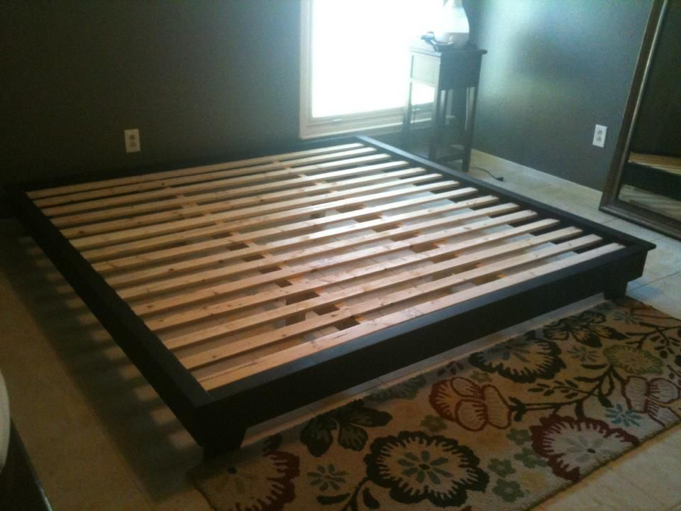 diy platform bed plans king sized hailey platform bed do it yourself home projects - Diy King Size Bed Frame