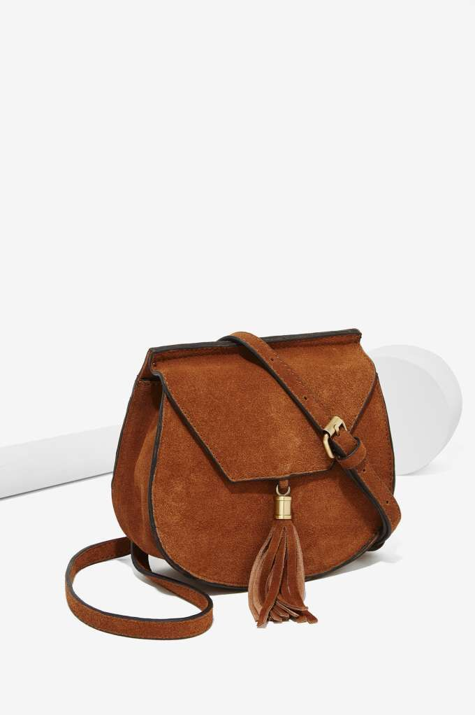 Nasty Gal X Nila Anthony Wild West Suede Bag All At