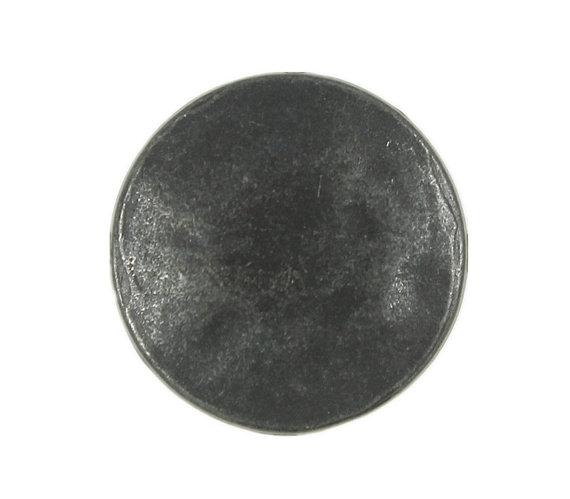 Metal Buttons - Black Gunmetal Metal Shank Buttons - 18mm - 11/16 inch - 6 pcs