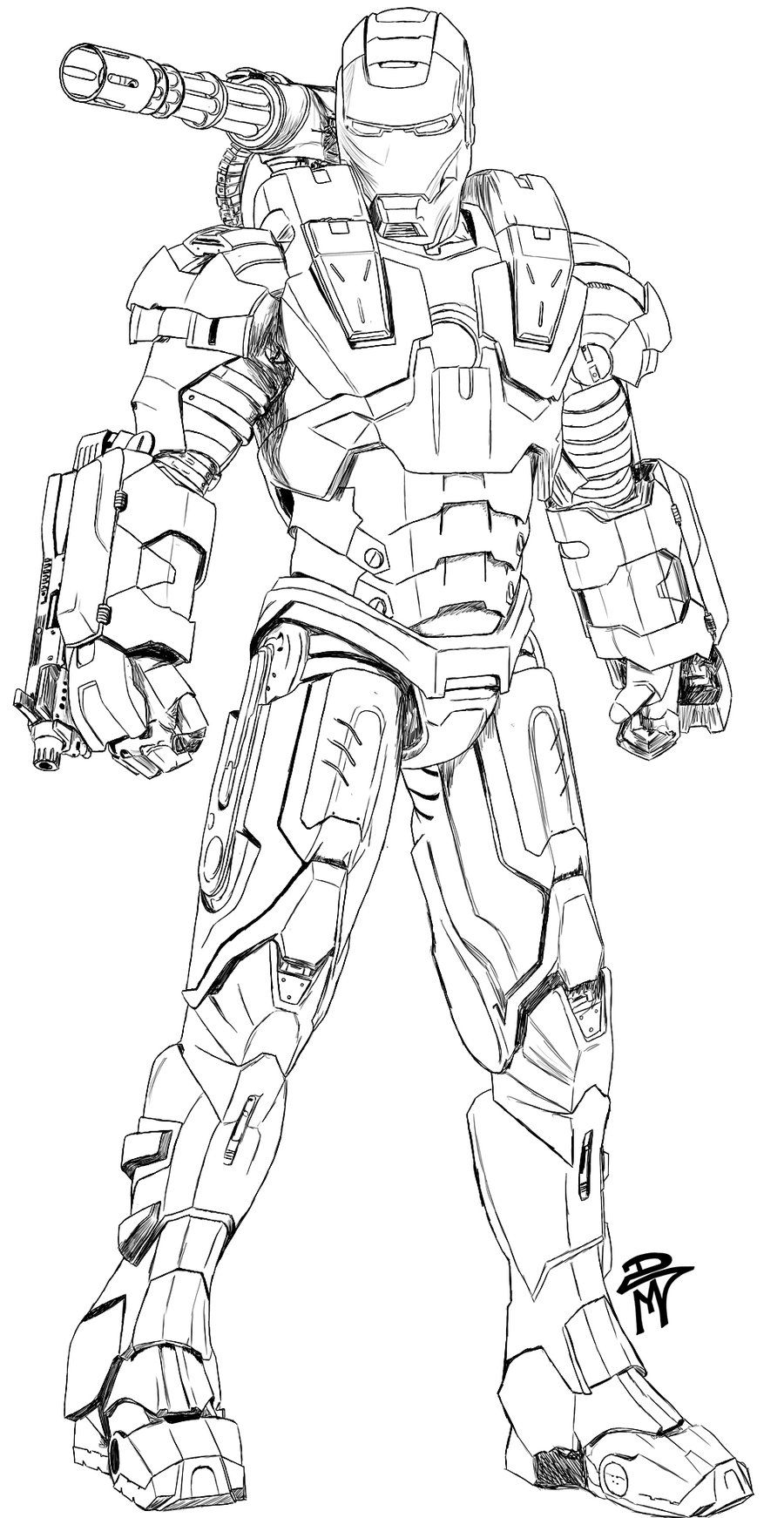 How To Draw War Machine : machine, Machine, Coloring, Pages, Drawing, Superheroes,, Superhero, Pages,