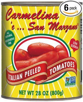 Carmelina Brands, Italian Whole Peeled Tomatoes In Puree, 28 Ounce (Pack of 6), 2016 Amazon Most Gifted Deli  #Grocery