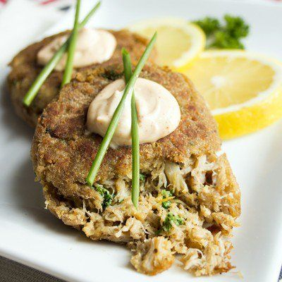 http://www.skinnymom.com/2014/01/05/sweet-and-spicy-crab-cakes/