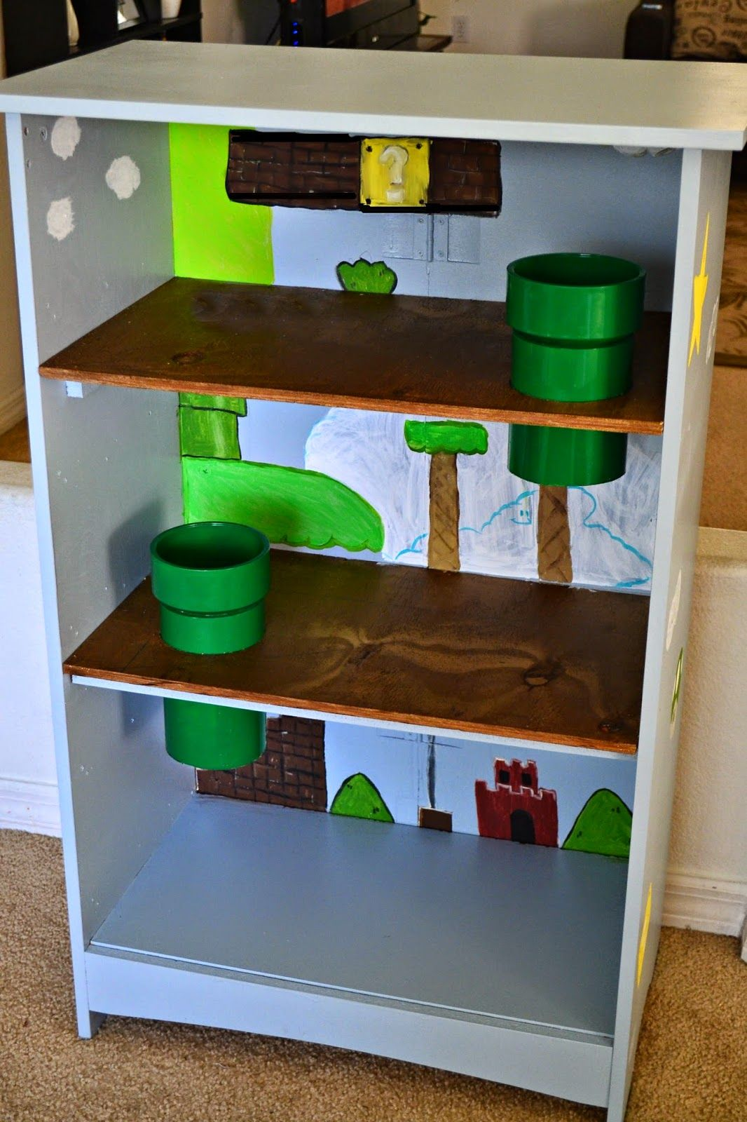 diy mario bros playhouse it 39 s a mom 39 s world posts pinterest kinderzimmer kinderzimmer. Black Bedroom Furniture Sets. Home Design Ideas