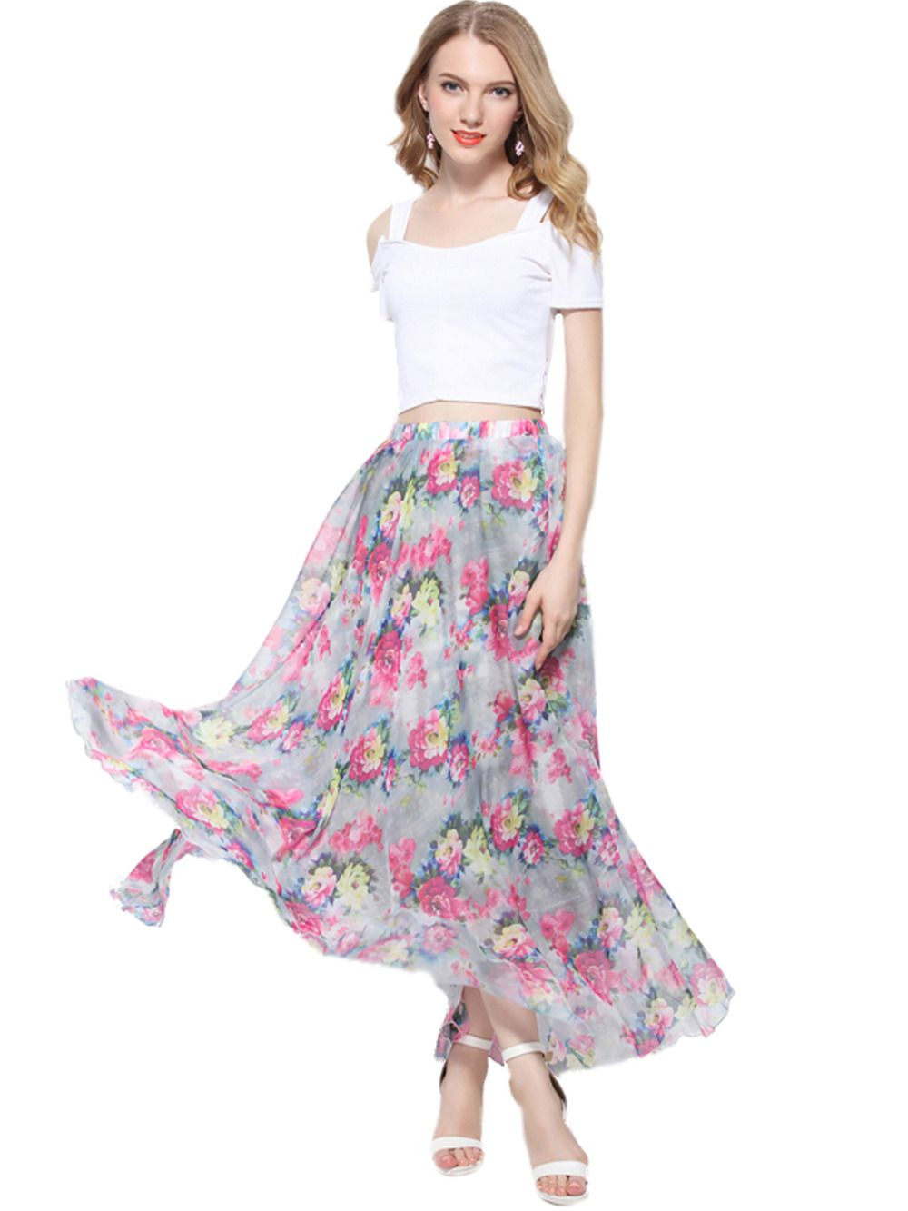 >> Click to Buy << Floral Beach Weding Dancing maxi  Causal day shopping Long Chiffon Sundress  Plus Size Available #Affiliate