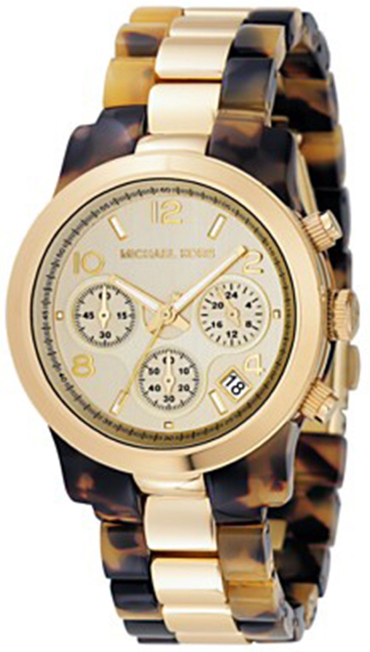 Michael Kors Mk5138 Reloj Cronografo De Cuarzo Para Mujer Correa De Plastico Multicolor Cronometro Amazon Es Reloj Reloj Michael Kors Michael Kors Reloj