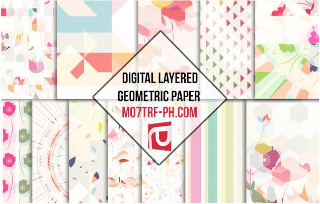 خامات فوتوشوب ورقية Texteurs Papier Paper Geometric Digital