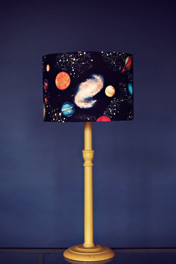 Planet Lampshade Stars Lamp Shade Space Birthday Gift Kids Lamps - Lamp shades for bedrooms