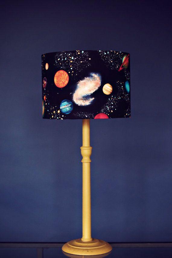 Planet Lampshade Stars Lamp Shade Space Birthday Gift Kids