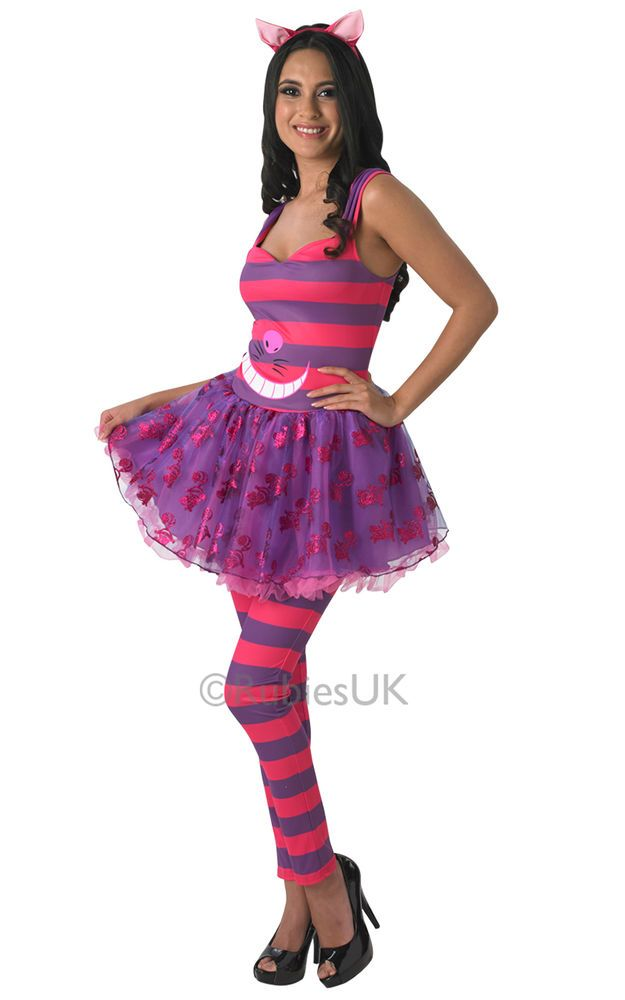 Womens Disney Alice In Wonderlands Cheshire Cat Costume In Clothes