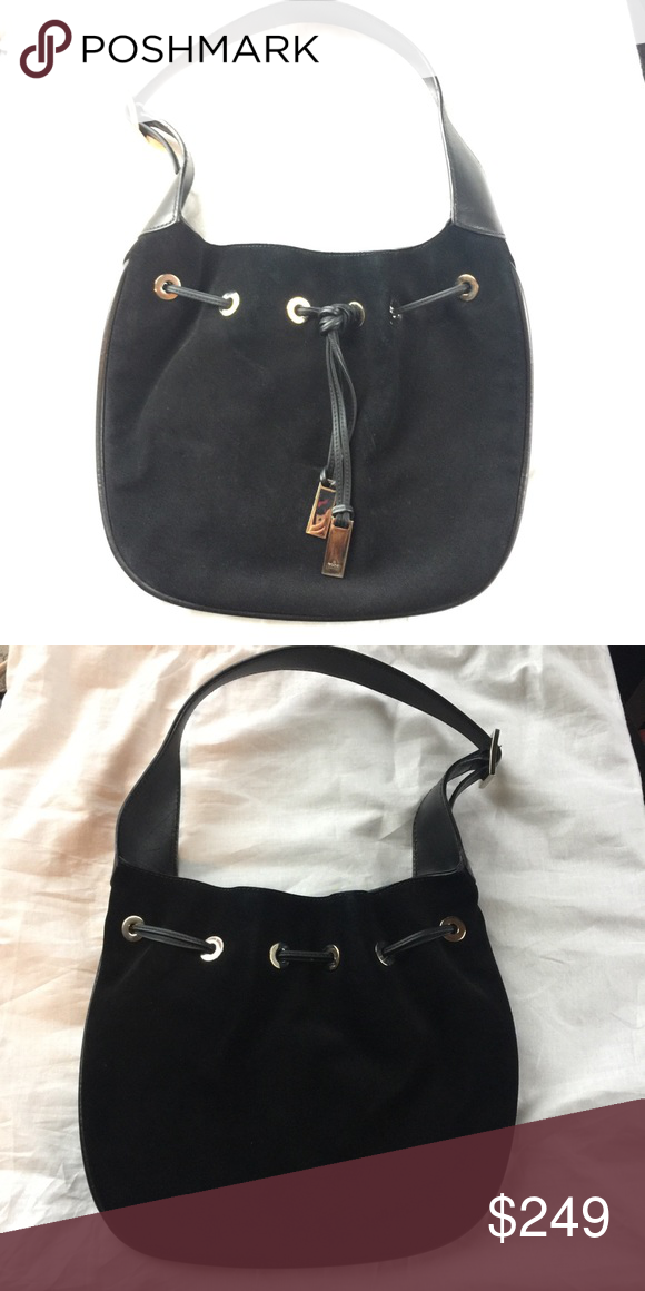 08095fad3 Gucci vintage drawstring boho suede bag Almost new with dust bag Gucci Bags  Hobos