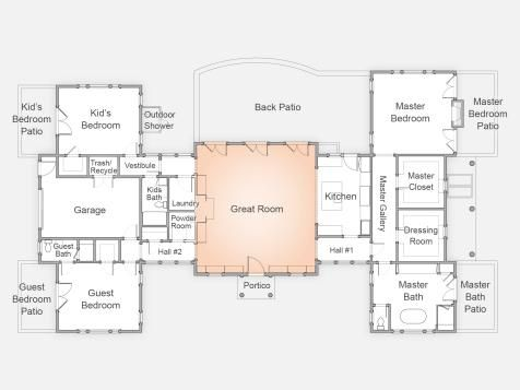 Dream Home 2015 Floor Plan | Hgtv, Building and House