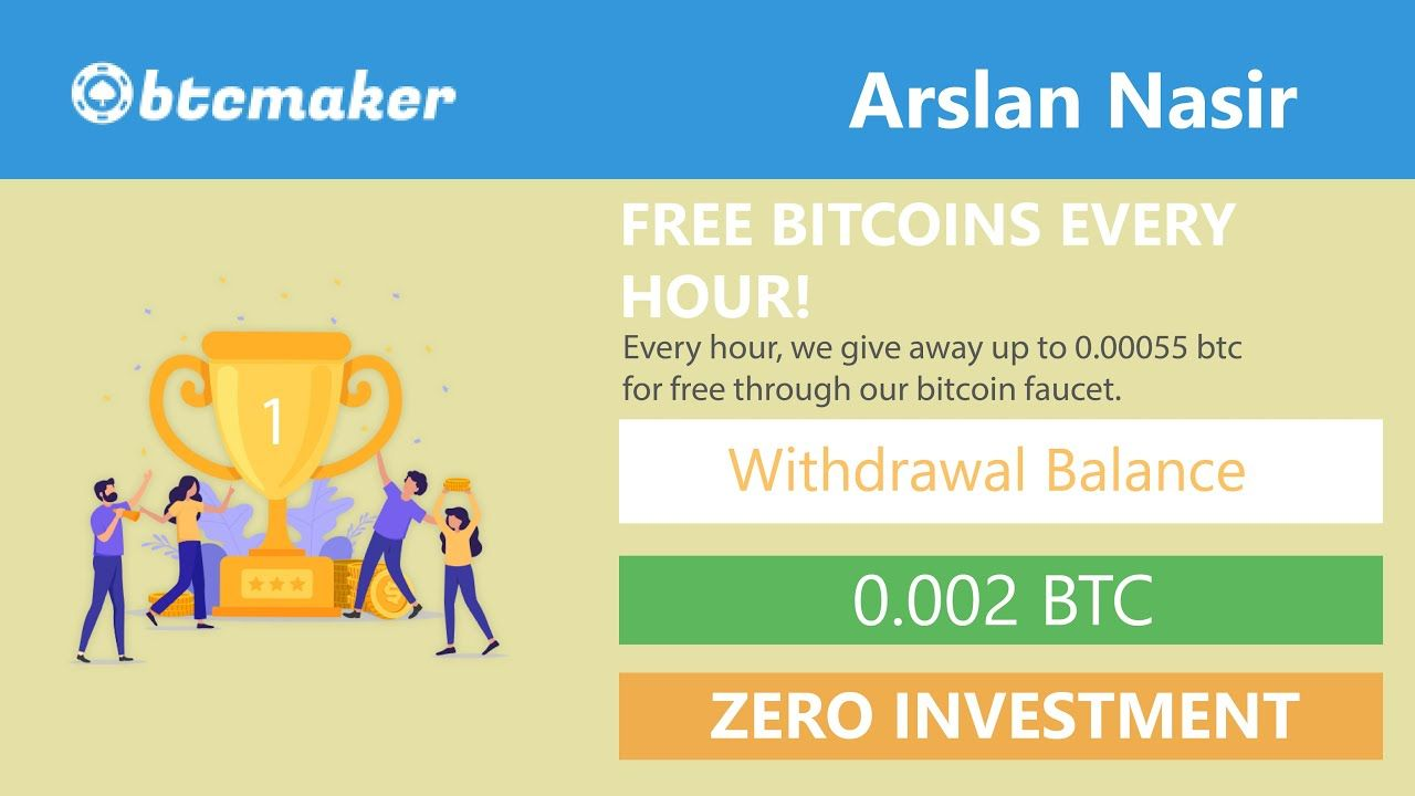 Btcmaker.io - Bitcoin Faucet New Free Bitcoin Earning Site 2020 - Type Captcha Earn Money Every Hour