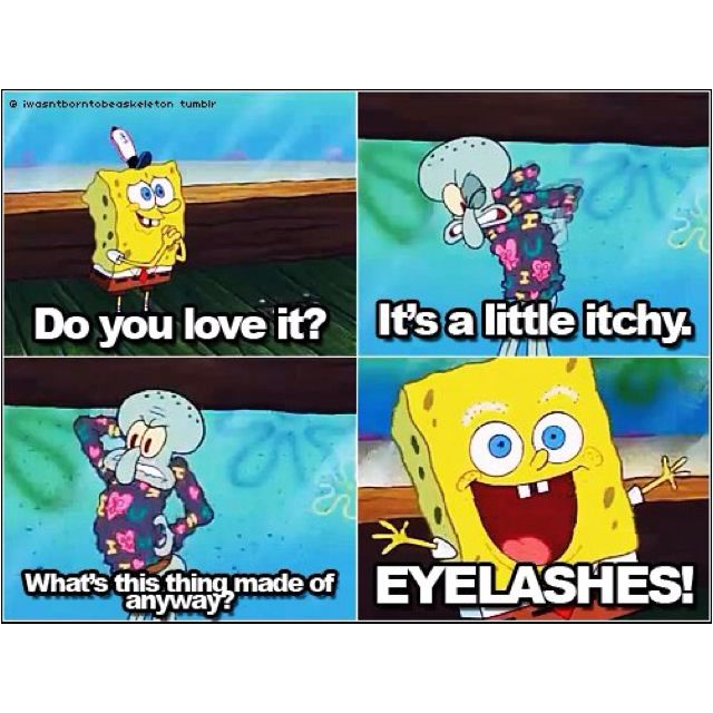 And When He Ran Out Of Eyelashes He Apparently Used Eyebrows Too